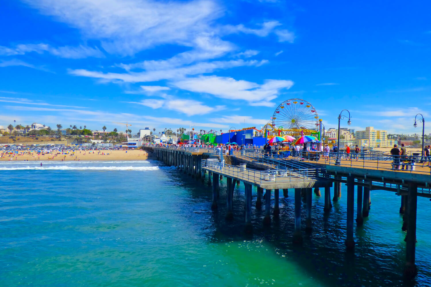 santa monica pier on beach