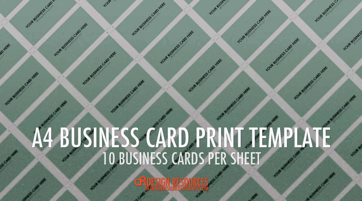 Free Photoshop Tutorials - Business card sheet template