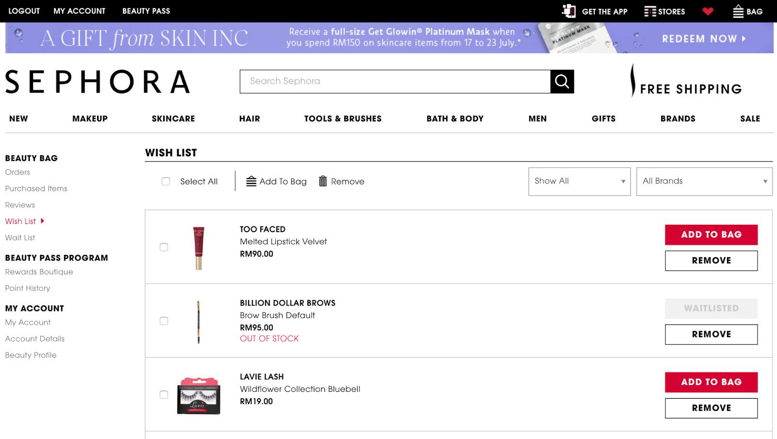 Create online shopping