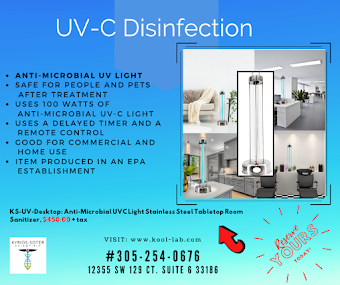 UV-C  Disinfection Anti-Microbial light for rooms, churches, offices, etc.