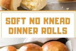 SOFT NO KNEAD DINNER ROLLS