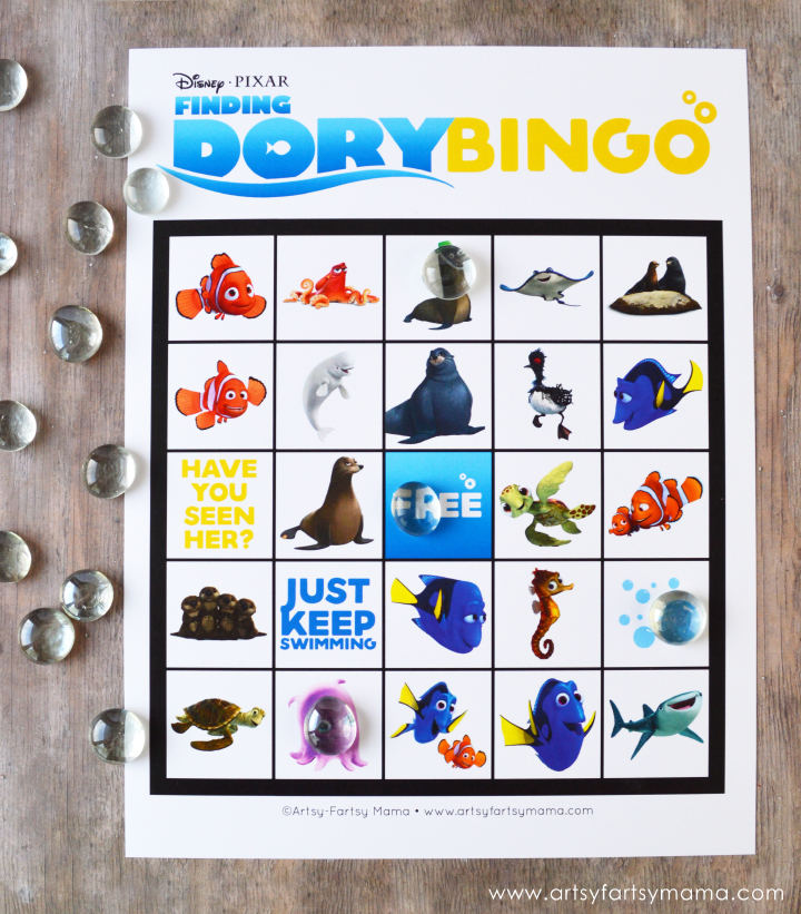 Free Printable Finding Dory Bingo