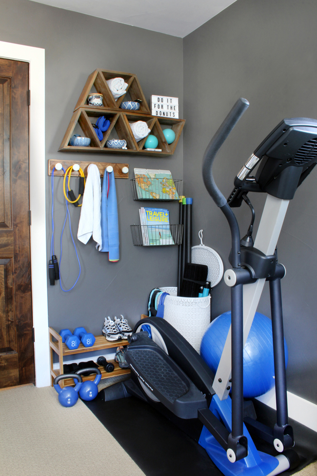 Stylish home gym ideas for small spaces blue i style creating an organized pretty happy home - Big ideas small spaces style ...