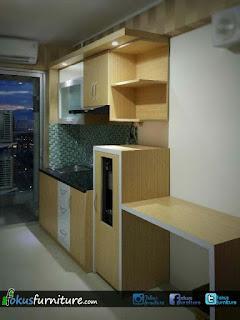 ide kitchenset apartemen bassura tahun ini