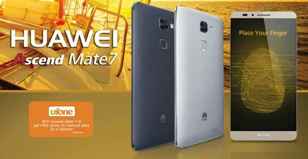 Huawei Ascend Mate 7 by Ufone