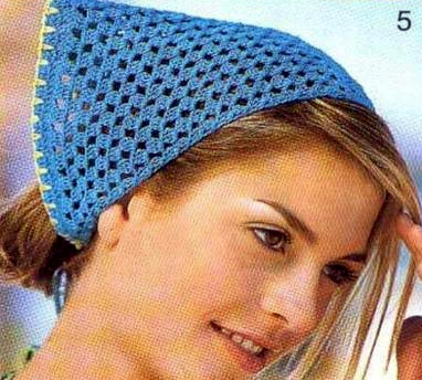 Patrón #1114: Pañoleta a Crochet