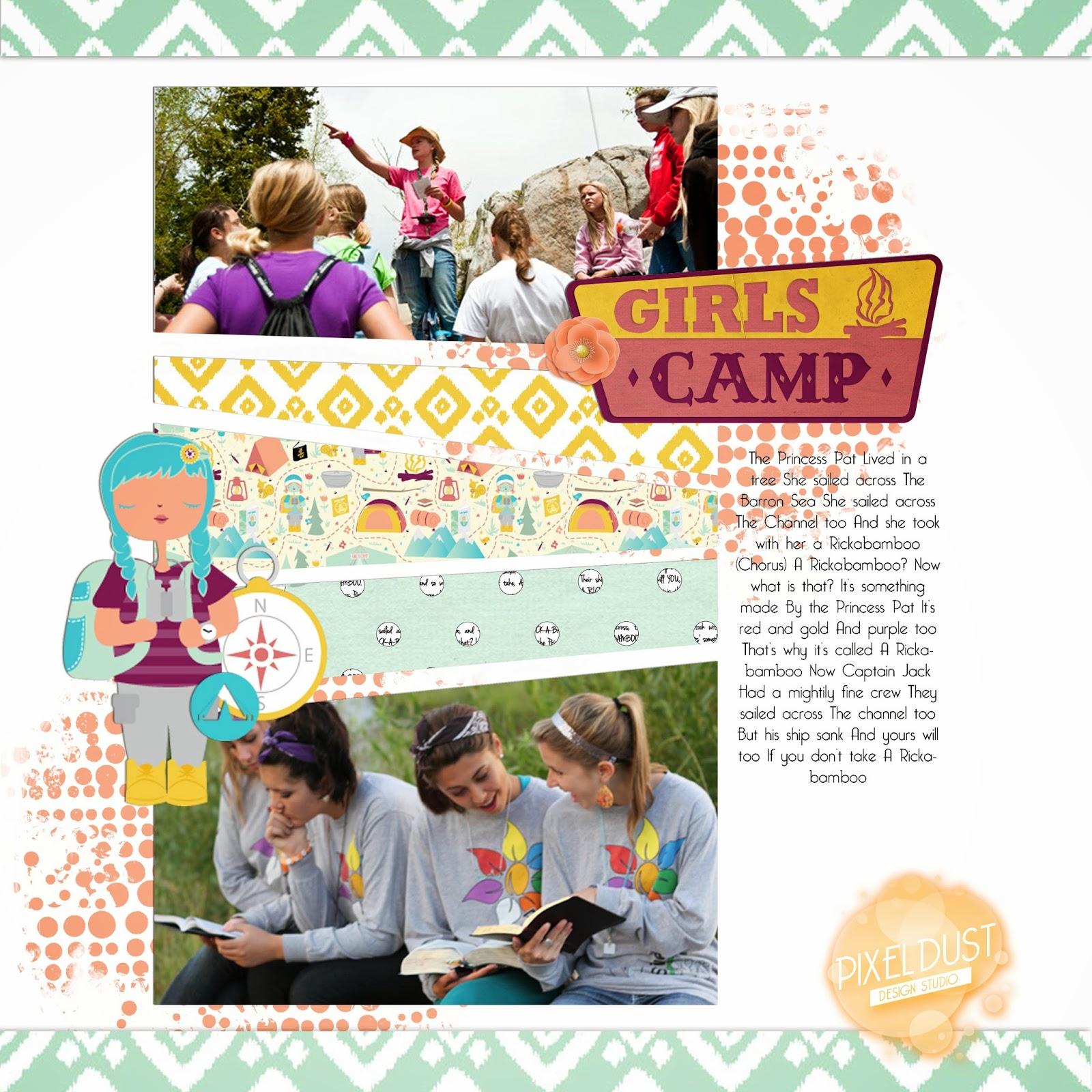 LDS Girls Camp Digital Scrapbooking Mega Kit (FREE download