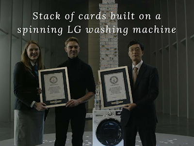 Guinness World Record Set By LG Electronics and Bryan Berg