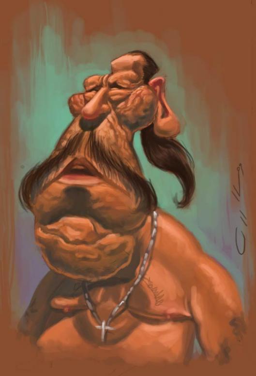 Caricatura de Danny Trejo por Will Appledorn