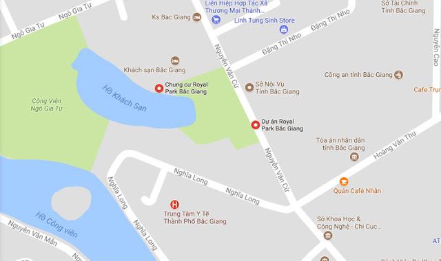 Vị trí dự án Aqua Park Bắc Giang