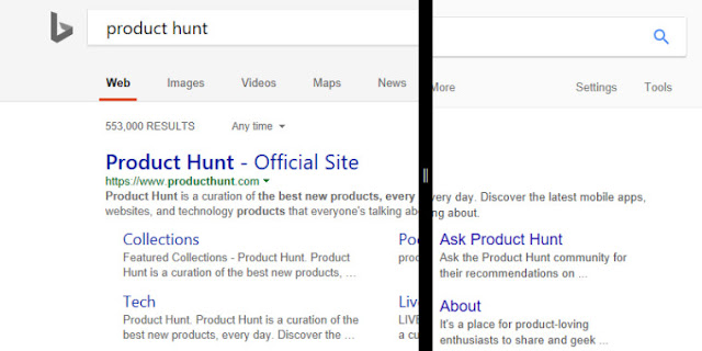 Microsoft is testing a Bing redesign inspired by Google Search