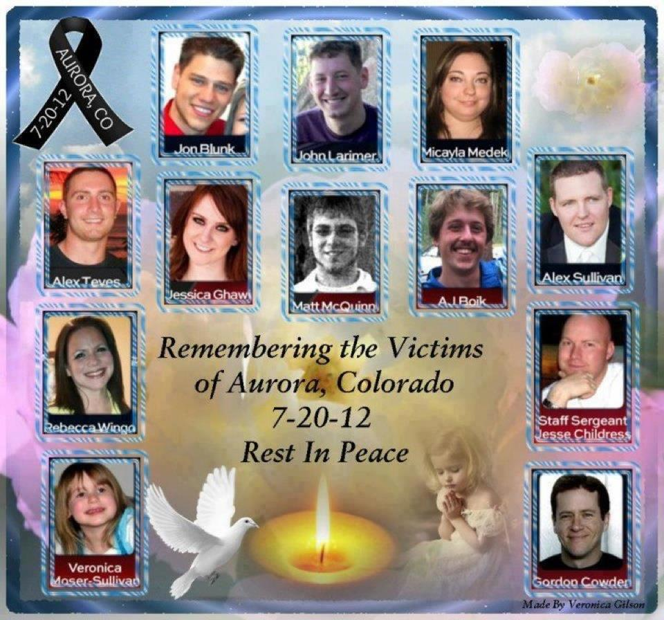 Colorado Theater Shooter: CHASING JUSTICE: Victims Of Colorado Gun Violence Names