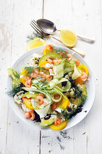Salade fraîcheur presque suédoise en images et presque sans rien dire... presque !
