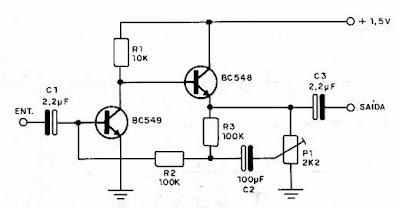 Electronica Diagramas Circuitos: Circuito amplificador con