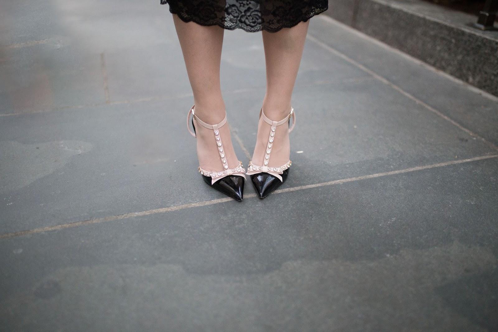 Kate Spade Lydia bow heels