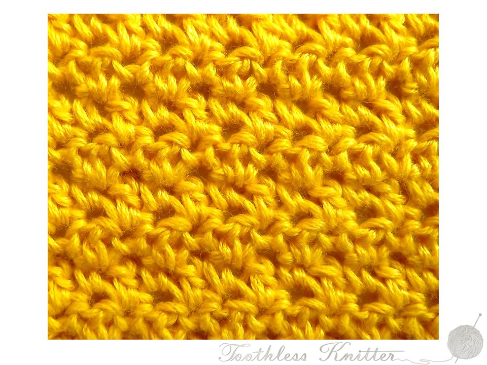 Textured Stitch: Double Crochet and Treble 2 / Splot Ścisły: Półsłupek Zwykły i Słupek Zwykły 2