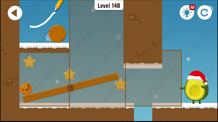 Where's My Avocado? Level 148 Solution, Cheats, Walkthrough, 3 Stars for Android, iPhone, iPad and iPod