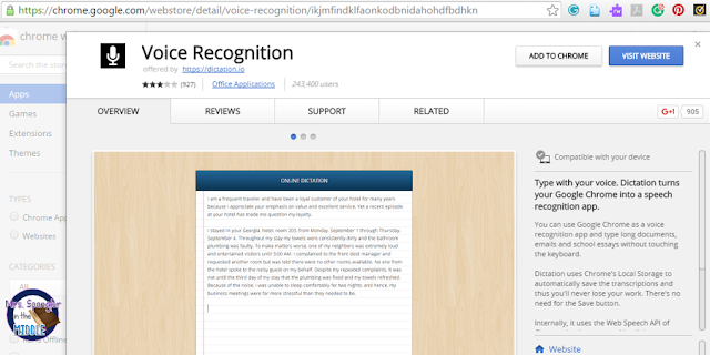 Help your most challenged students write using the voice recognition app!