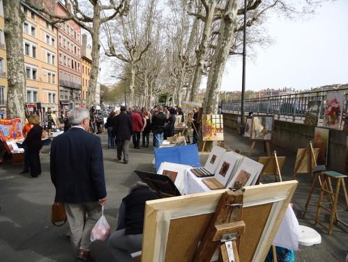 marché de l'art quai romain rolland
