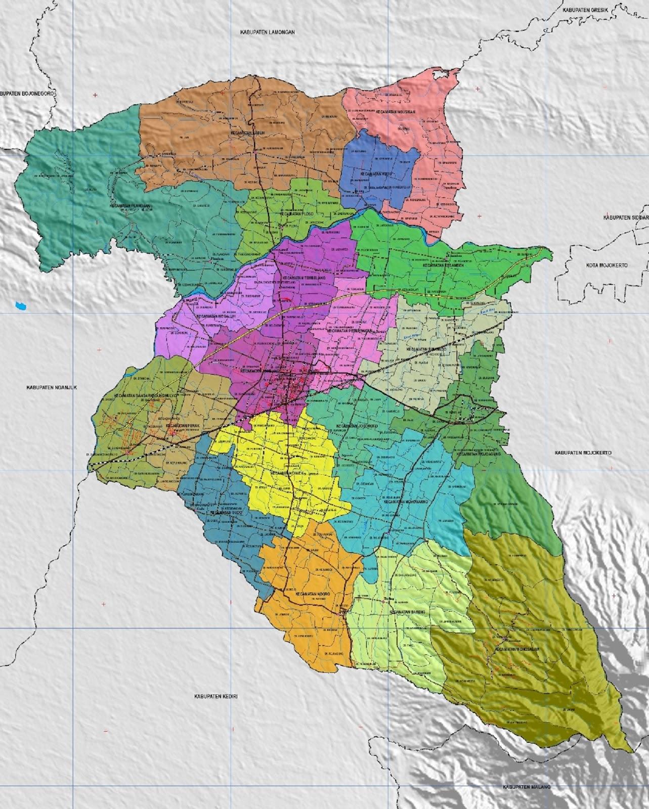 Peta Kabupaten Jombang