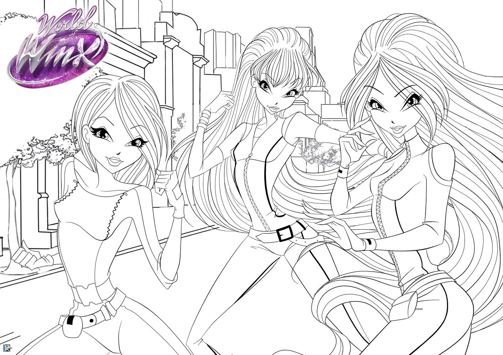 Winx Spy: Imagens Para Colorir