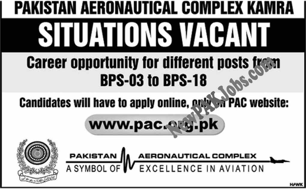 Pakistan Aeronautical Complex Kamra Jobs