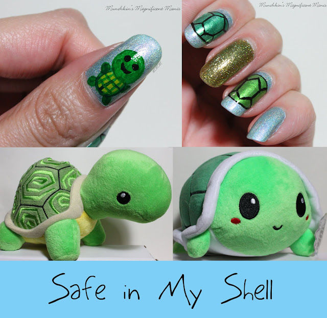 Turtle Nail Design - Munchkin's Magnificent Manis: Safe In My Shell- Turtle Nail Design