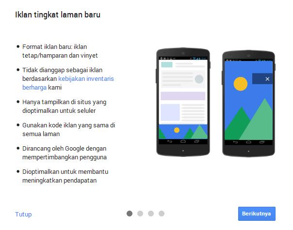 iklan tingkat laman google Adsense