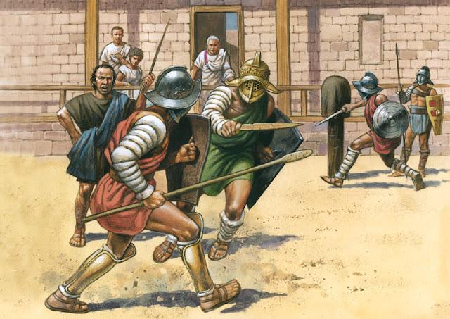 latihan gladiator ludus