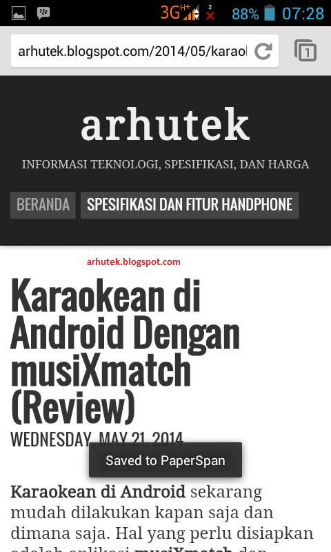 Cara Simpan Halaman Di Chrome Android (Review PaperSpan)