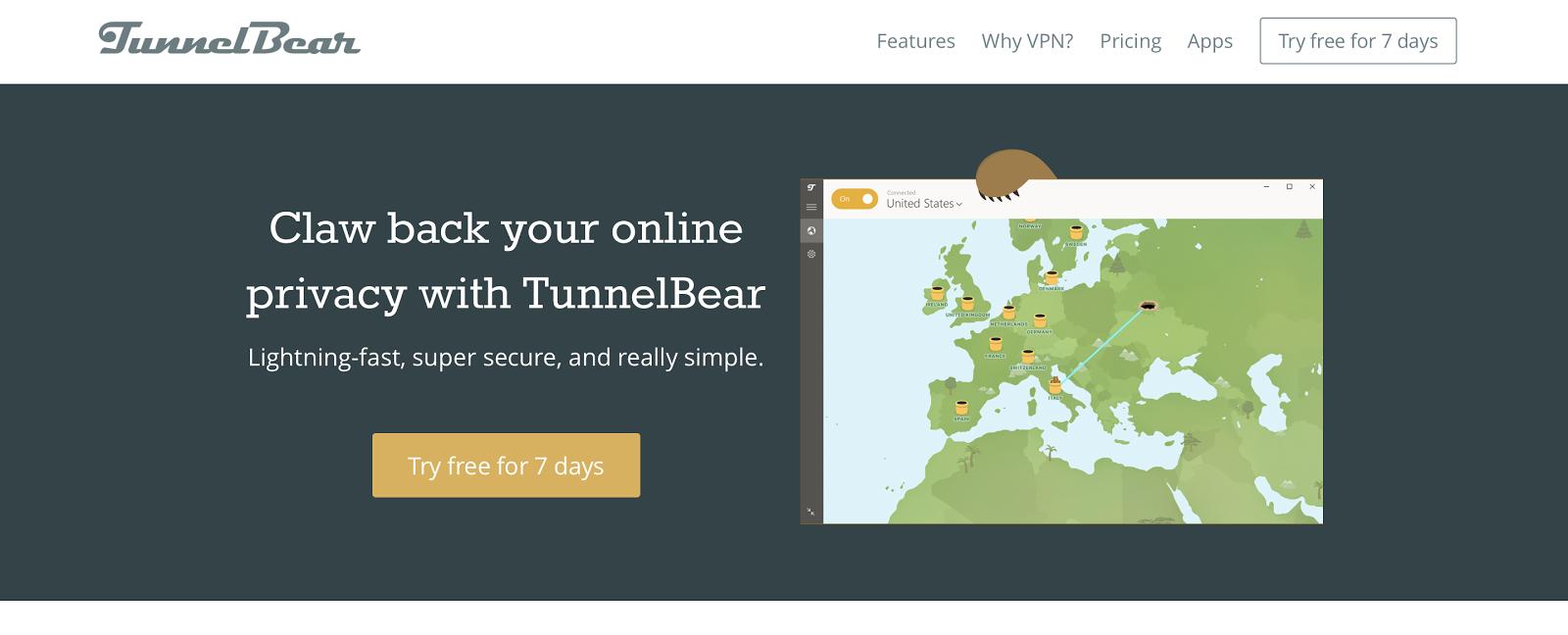 Why TunnelBear is the best VPN