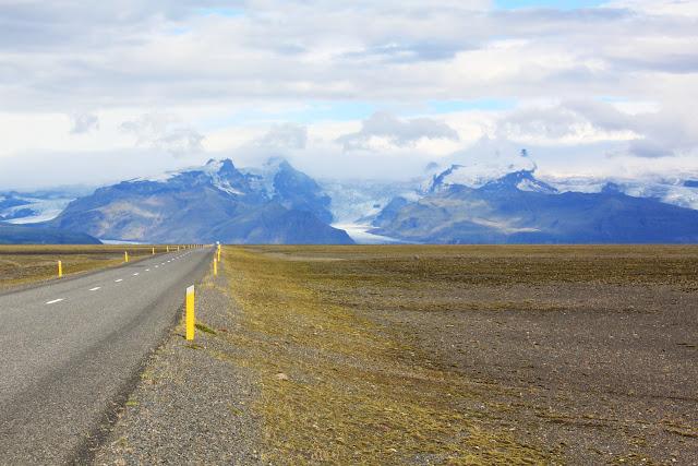 Vistas del glaciar Vatnajökull desde la carretera
