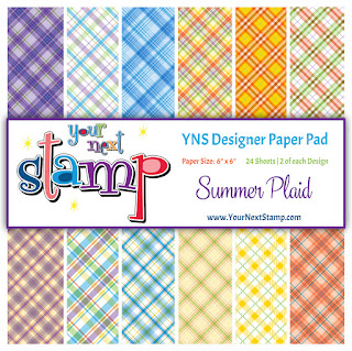 Summer Plaid Designer Paper Pad