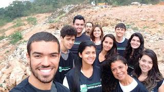 Alunos visitam o aterro sanitário de Teresópolis (Lixão)