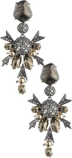 Alexis Bittar rystal Encrusted Dangling Snowflake Clip Earring