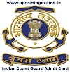 Indian Coast Guard Navik GD Admit Card 2018 - Check Here