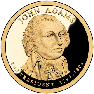 John Adams 2007 US Presidential One Dollar Coin