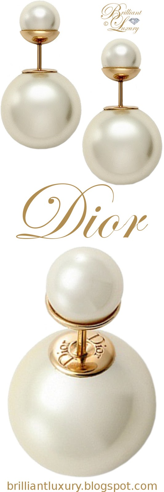 Brilliant Luxury ♦ Dior 'Mise en Dior' tribal-inspired gold earrings