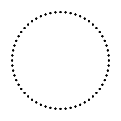 the circle of dots used in metal coin design on photoshop
