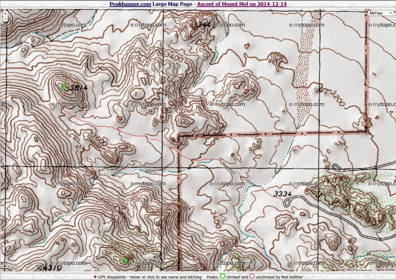 Joshua Tree Topographic Map.Dan S Hiking Blog Joshua Tree Indian Cove To Mount Mel January