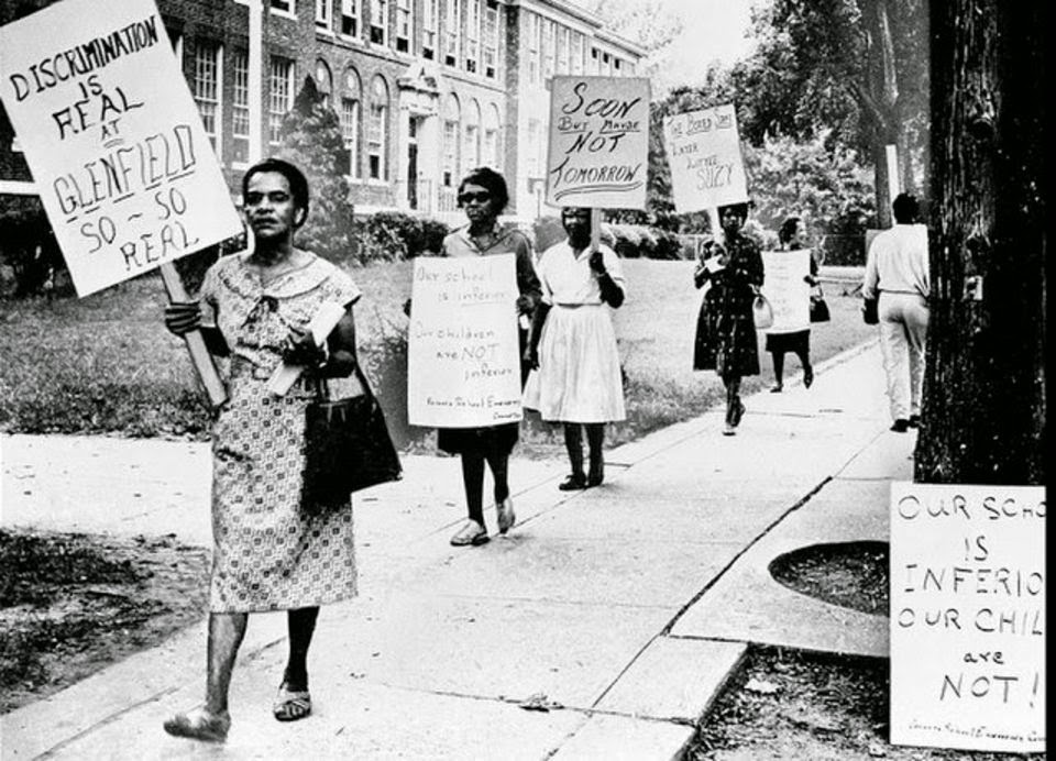 Parents of students picketed glenfield junior high school in montclair in 1962 to dramatize their effort to improve education for the schools students