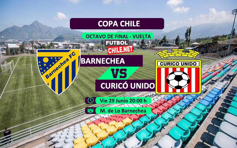 Mira Barnechea vs Curicó Unido en vivo y online por los octvavos de final vuelta de la Copa Chile 2018
