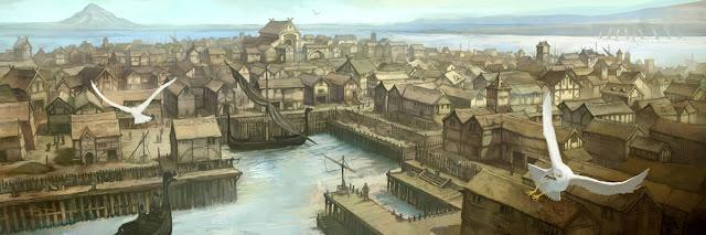 La ville du Lac Écran du Gardien des Légendes, L'Anneau Unique.