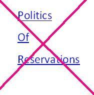a poster depicting politics of reservations