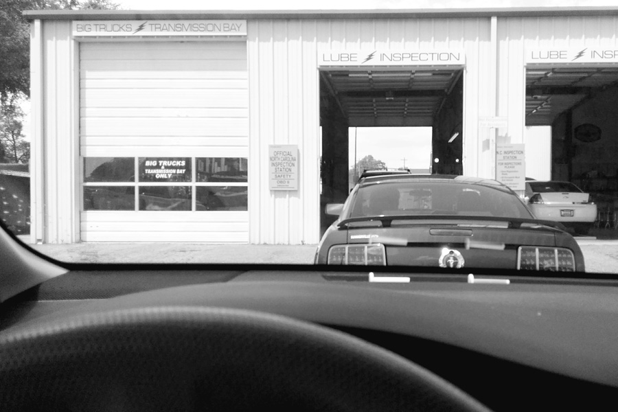 taking the car to get inspected