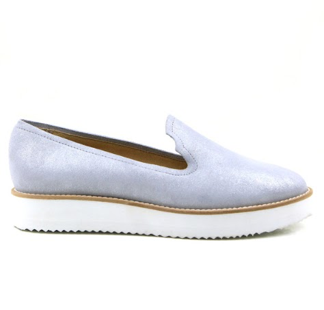 Seven Boot Lane Dakota Suede Silver Loafers