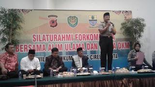 Kapolres Cirebon Kota Bersinergi Bersama Para Ulama Dan Ketua DKM Untuk Mensosialisasikan Bahaya Hoax