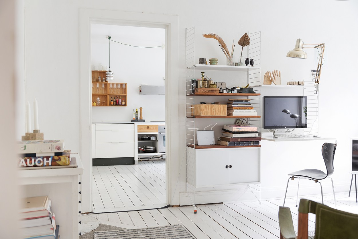 scandinavina interior kitchen with wooden tones