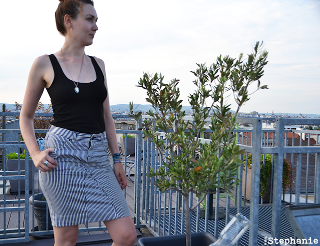 Pencilskirt | black-white stripes | vonStephanie.at