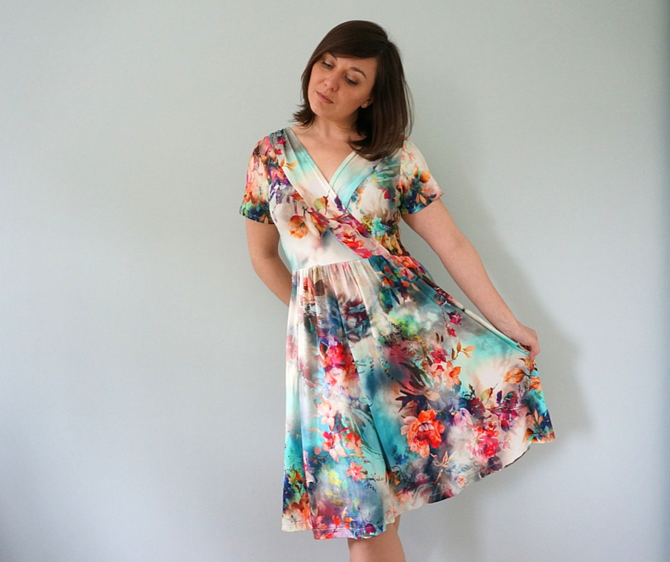 Wren dress by Colette Patterns, made by the petite passions